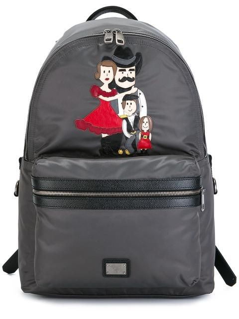 DOLCE   GABBANA  Vulcano  Western Family Patch Backpack.  dolcegabbana  bags   leather  backpacks   751e9a5908be6