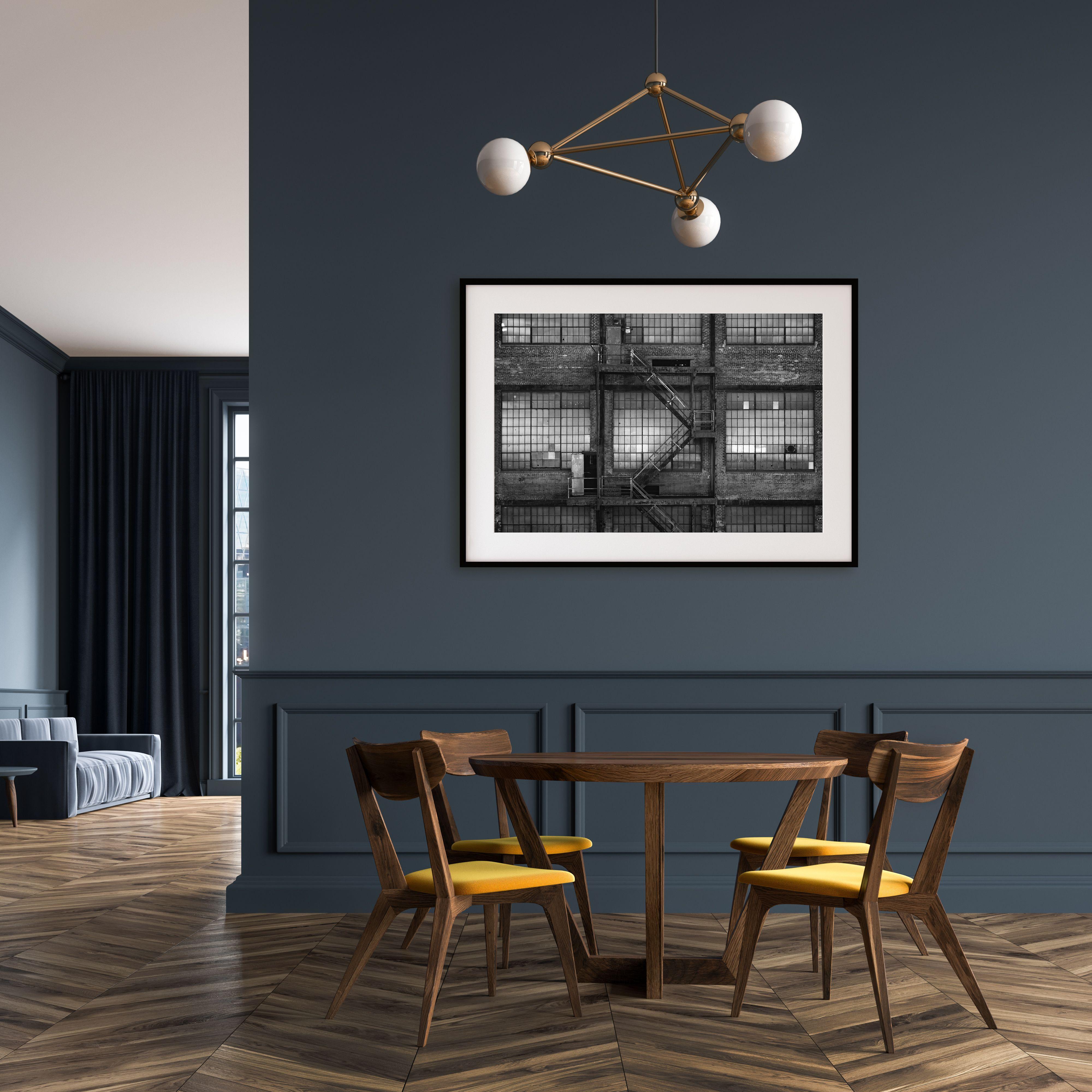 Industrial Modern Wall Art Mid Century Modern Living Room Minimalist Wood Furniture Modern Industrial Decor
