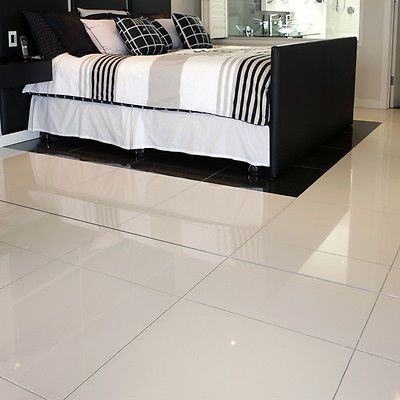 Super White Polished Porcelain Pre Sealed 60 X 30 Wall Floor Tile