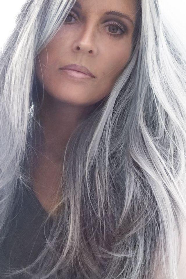 Gorgeous Natural Gray Hair In 2020 Hair Styles Silver Hair Color Long Hair Styles