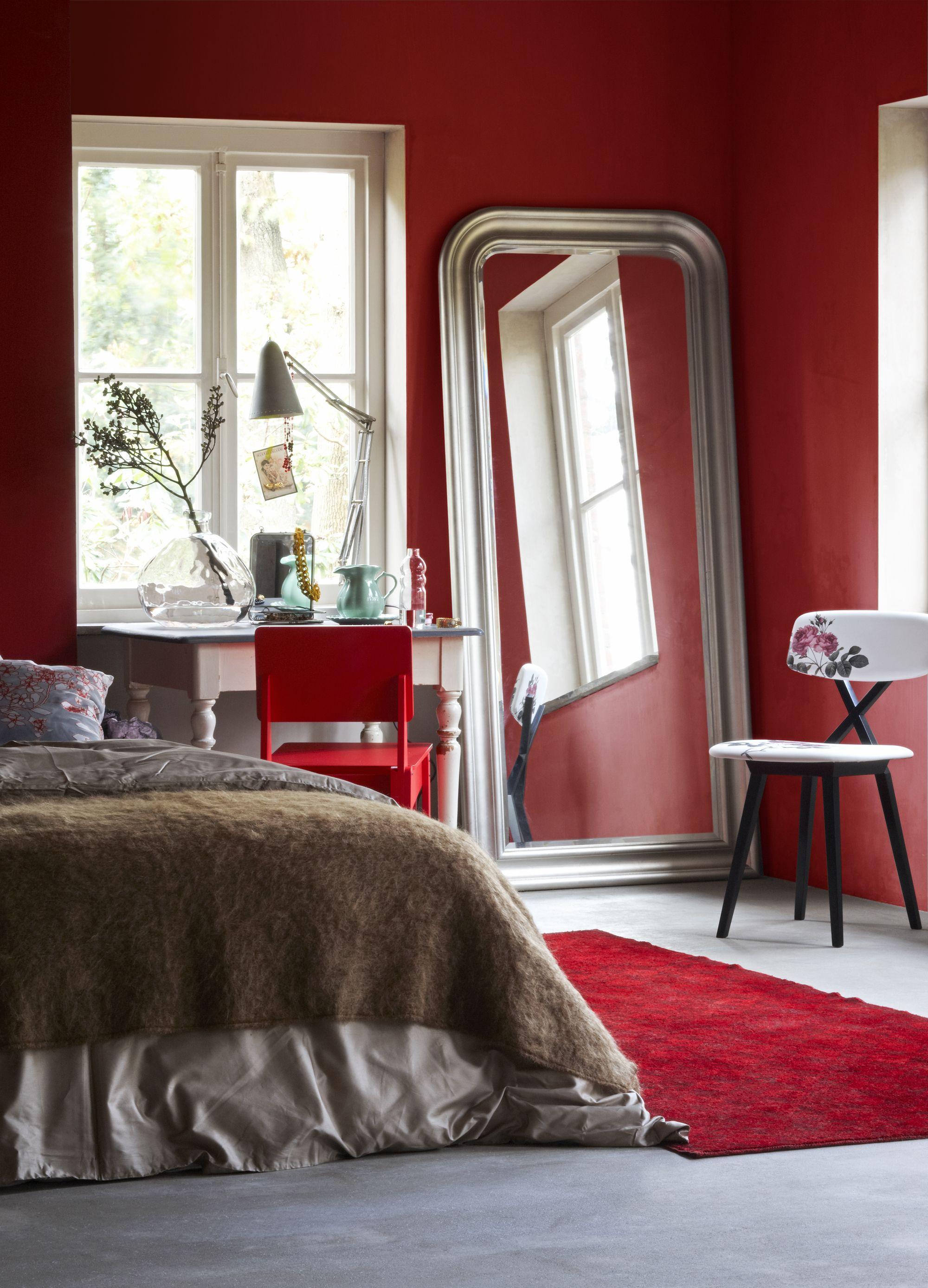 rode slaapkamer - rood in huis - rood interieur - anders style, Deco ideeën