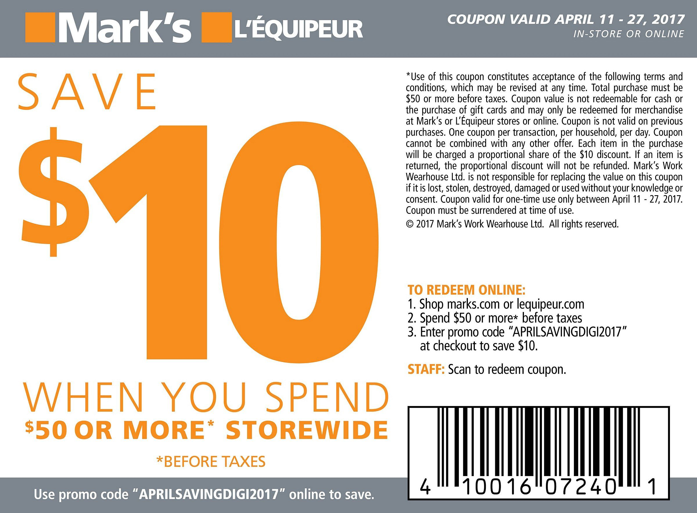 Coupon Mark S Coupons Marks Canada Marks