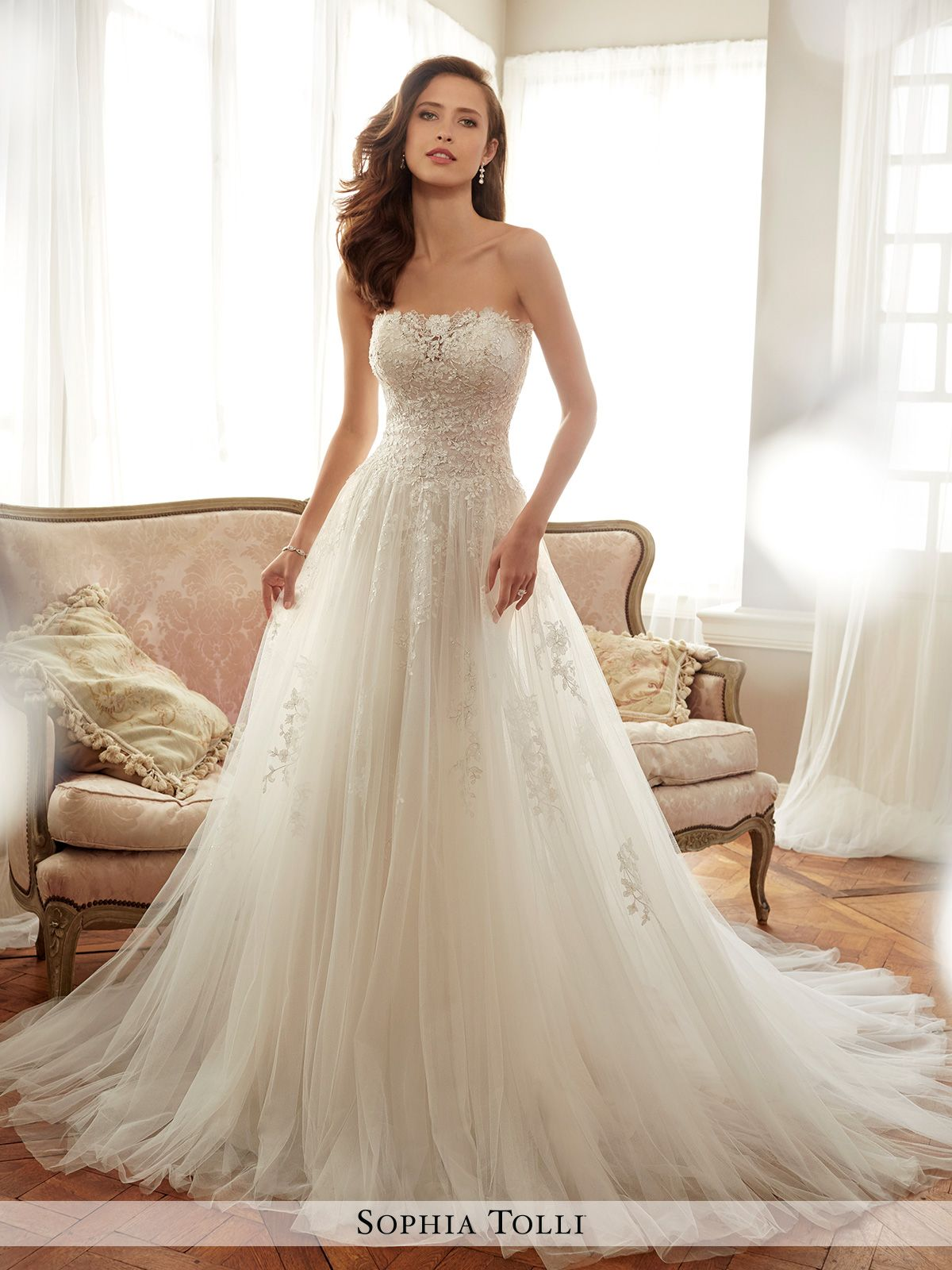 Sophia Tolli Spring 2017 Collection Y11706 Harriet Wedding Gown Gallery Wedding Dresses Wedding Dresses For Sale