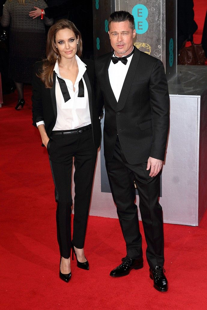 Style Angelina Out Fashion Jolie Y Fits Tuxedo wYfvAYR0