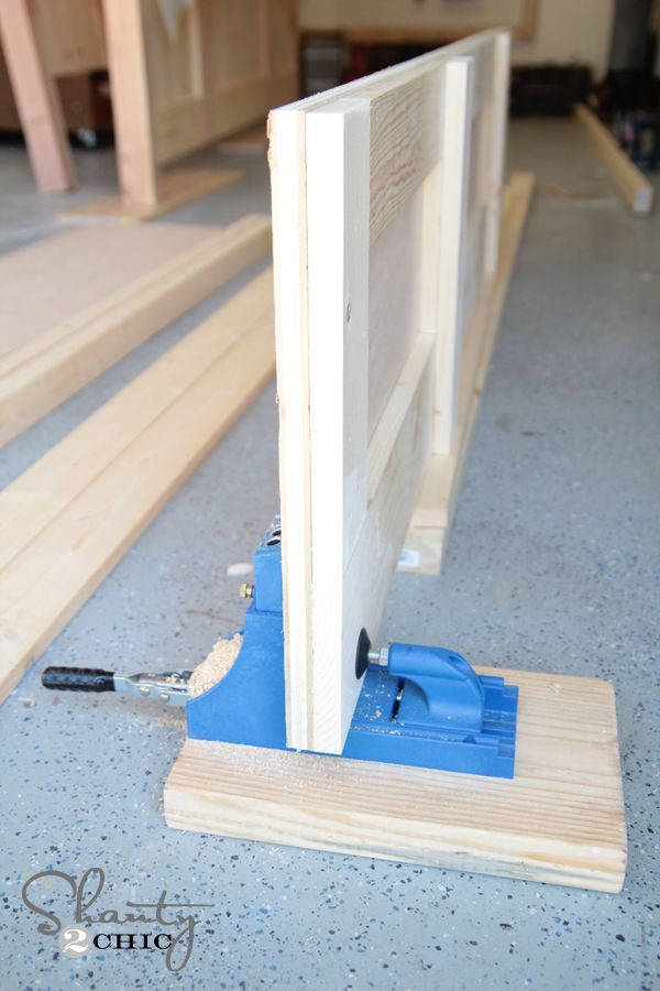 DIY King Size Bed Free Plans | Pinterest | Kreg jig, Bed rails and ...