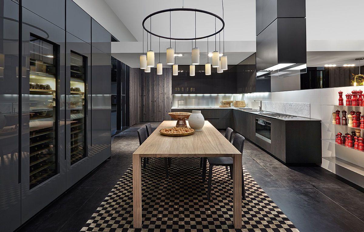 Dining table / interior / contemporary / walnut - BLADE - Varenna Poliform