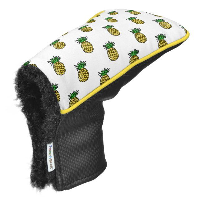 Cute Tropical Summer Fruits Pineapples Pattern Golf Head Cover | Zazzle.com #tropicalpattern