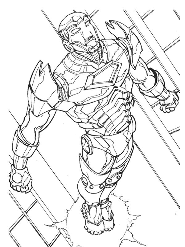 Iron Man Fly Coloring Page Coloring Pages Iron Man Marvel Coloring