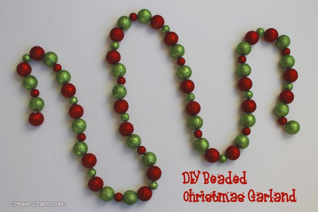 diy beaded christmas garland create craft love - Beaded Christmas Garland