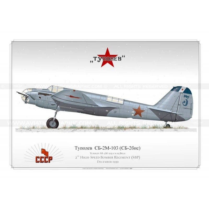 Tupolev SB-2M-103 'Blue 03' SK-10 - Aviationgraphic