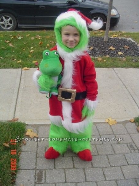 the grinch that stole halloween costume idea for a child - Baby Grinch Halloween Costume