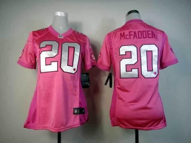 Womens Nike NFL Oakland Raiders  20 Darren McFadden Pink Love s Elite  Jerseys 7fb770855
