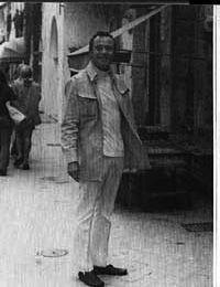 Jack Lemmon visiting Capri during filming in Ischia