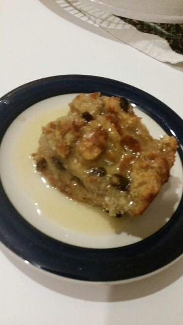 1/11/15 yummy bread pudding with rum sauce!