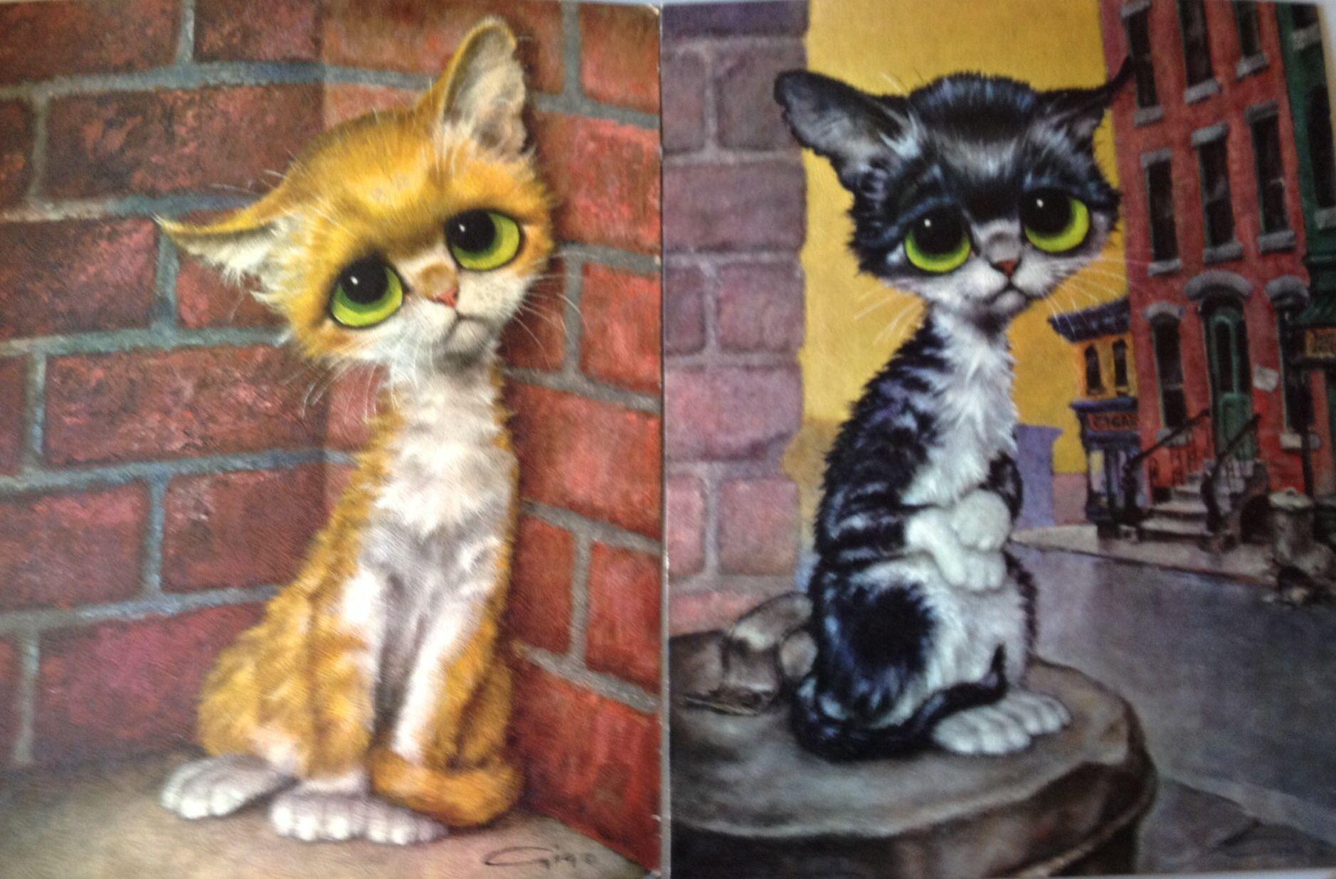 Big Eyed Cats By Gig Animal Paintings Big Eyes