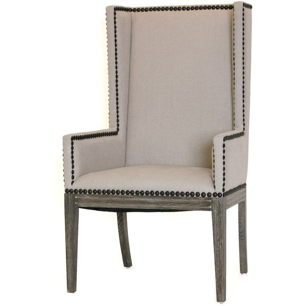 nailhead dining chairs dining room. Wing Back Nailhead Dining Chair ($1,295) ❤ Liked On Polyvore Featuring Home, Furniture Chairs Room