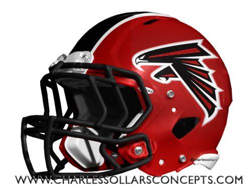 Nfl Mock Draft Helmet Redesign Round 1 Atlanta Falcons Helmet Nfl Football Helmets Cool Football Helmets