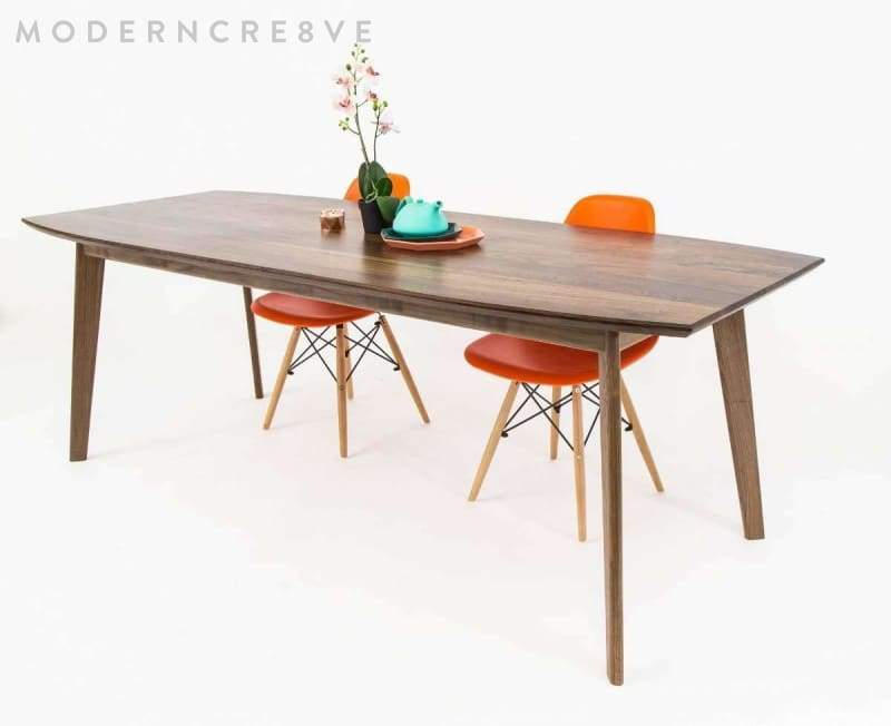 The Santa Monica Mid Century Modern Dining Table With Images