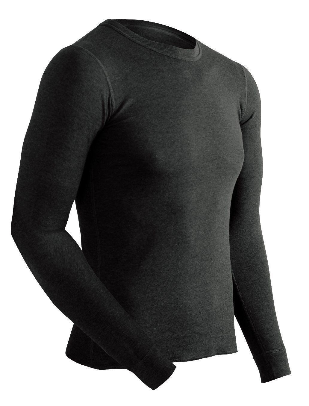 Men's Platinum Dual Layer Long Sleeve Crew Neck Top - Black - CF1176QN343   Base  layer, Mens outdoor clothing, Base layer men