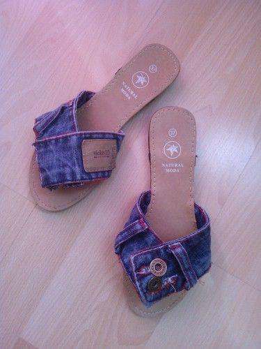 Sandalias Summer Jeans : Sandalias  originales 100% recicladas. ¡ Seguro que no hay otro par igual ! | inrous_13
