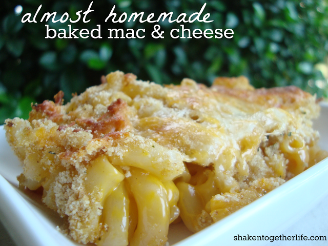 shaken together: {taste this} almost homemade baked mac & cheese