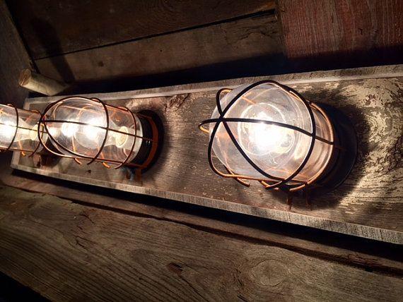 3 Bulb Nautical Beach House Bathroom Vanity Bulkhead Light