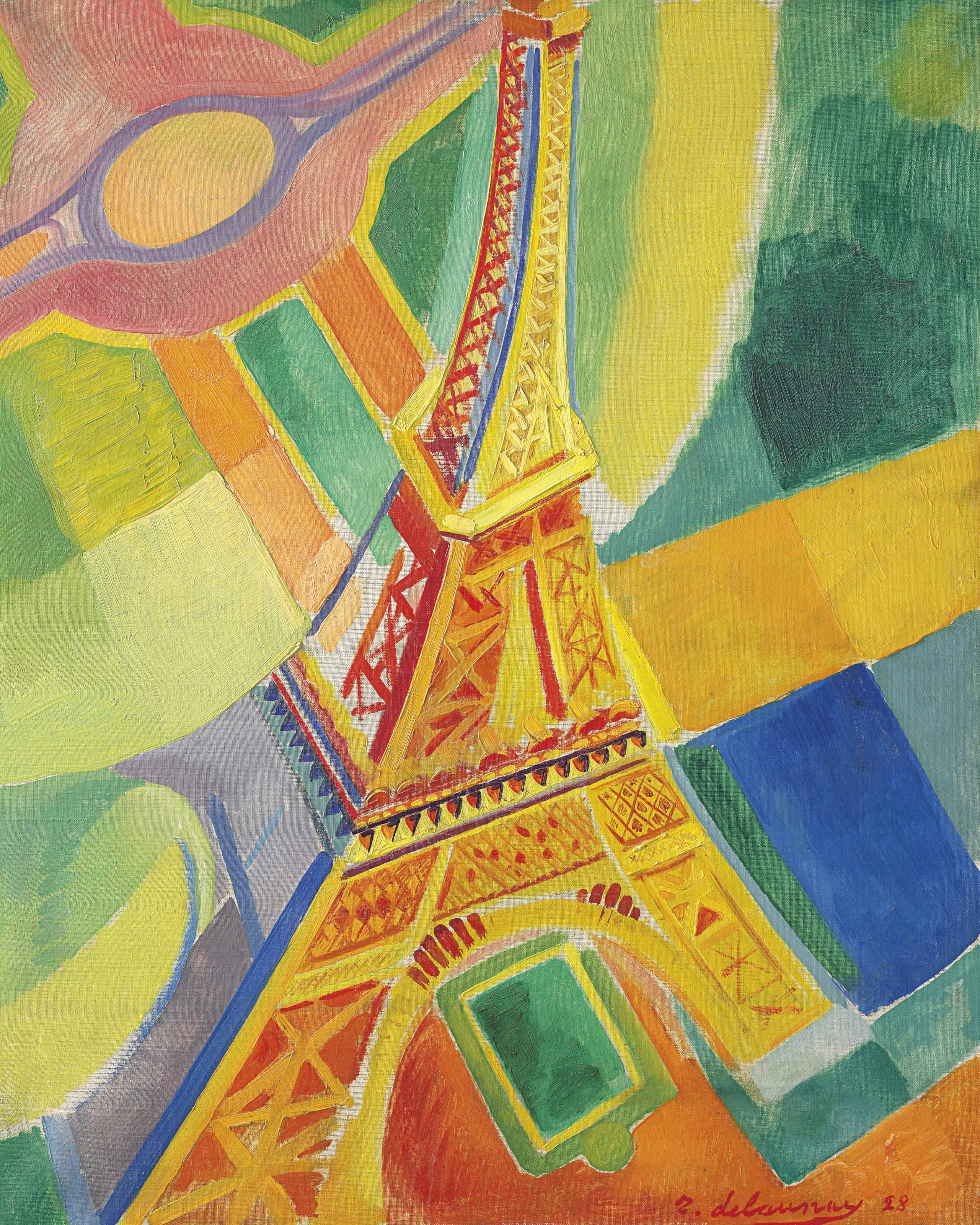 Robert Delaunay 1885 1941 La Tour Eiffel 20th Century