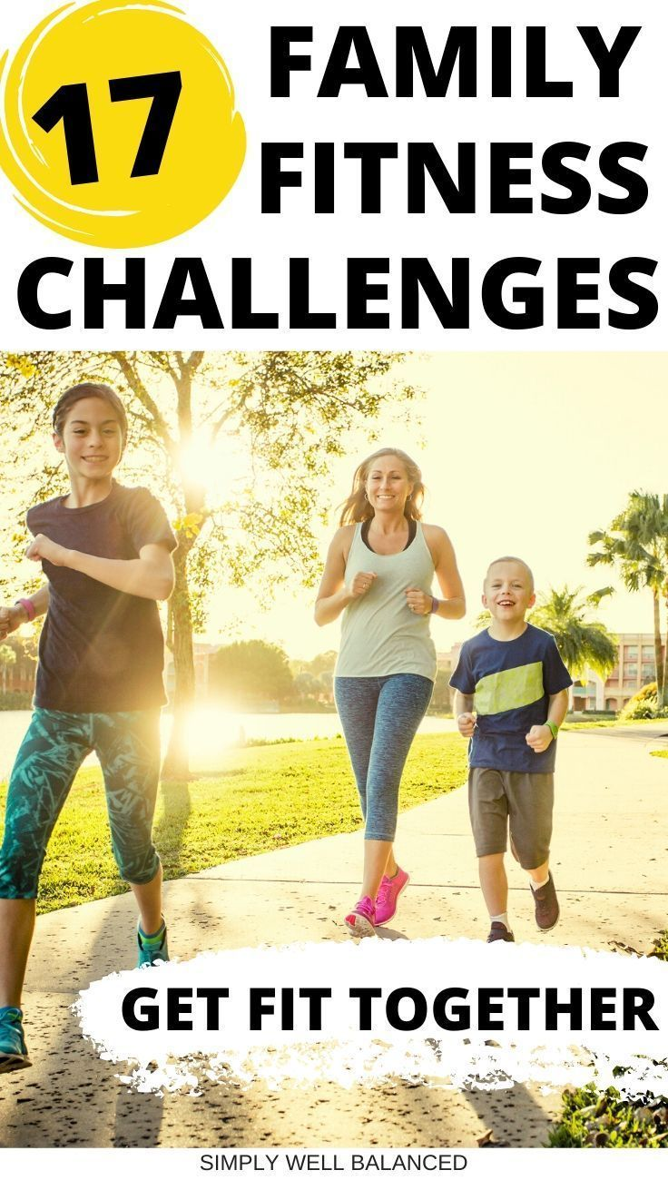 Fun family fitness ideas and activities to do as a family. Check out these awesome family fitness ch...