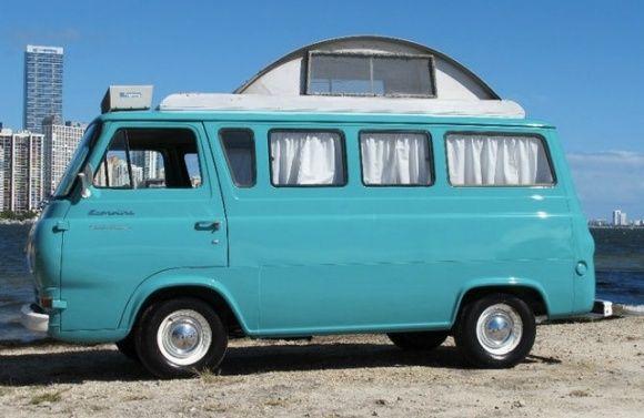 Family Style 1961 Ford Econoline Camper Van Vans Pinterest
