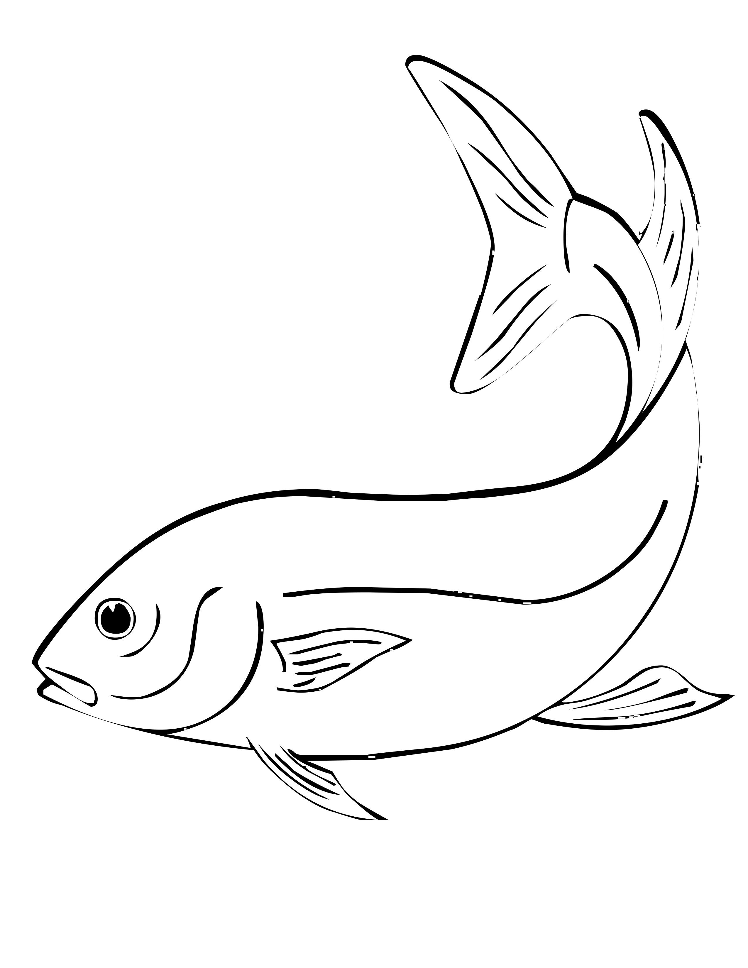 free coloring pages of fish - Fish Coloring Pages 2