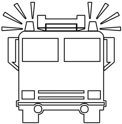 malvorlage feuerwehrauto malen einfach