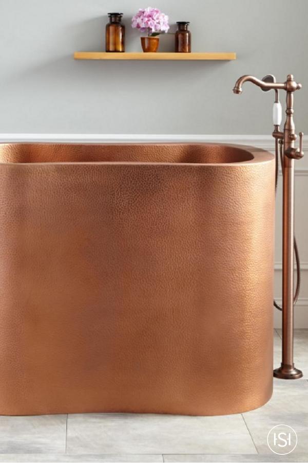 49 Silhouette Copper Japanese Soaking Tub Master Bathroom