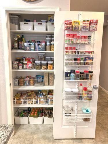 White Elfa Utility Pantry Door & Wall Rack #pantryorganizationideas