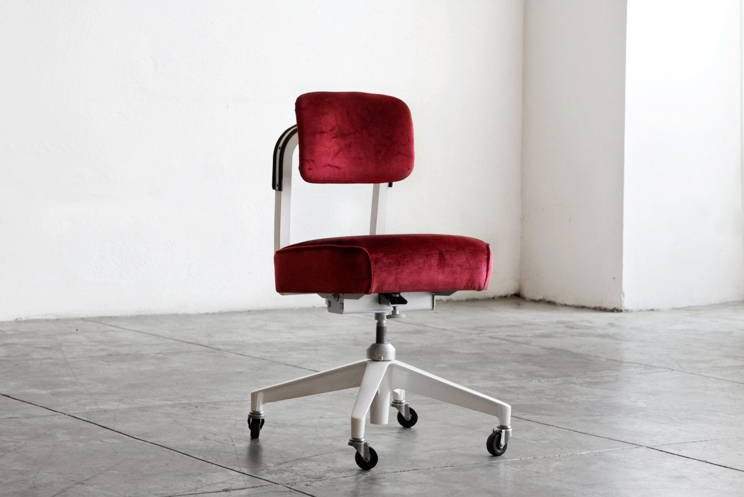 1960s Armless Task Chair by Steelcase Refinished by