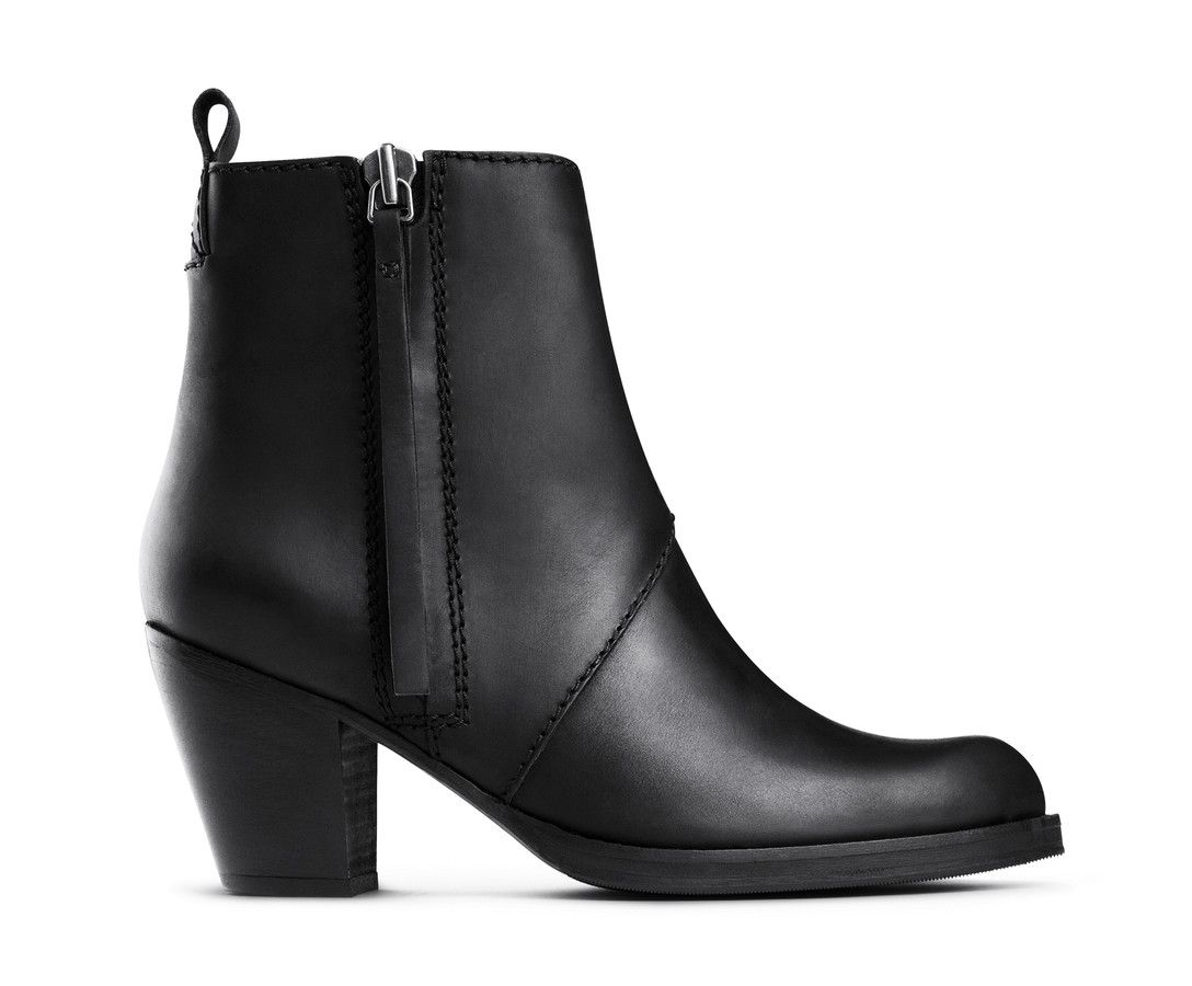Cut Cost Acne Studios Ankle Boots Suede Black The Pistol