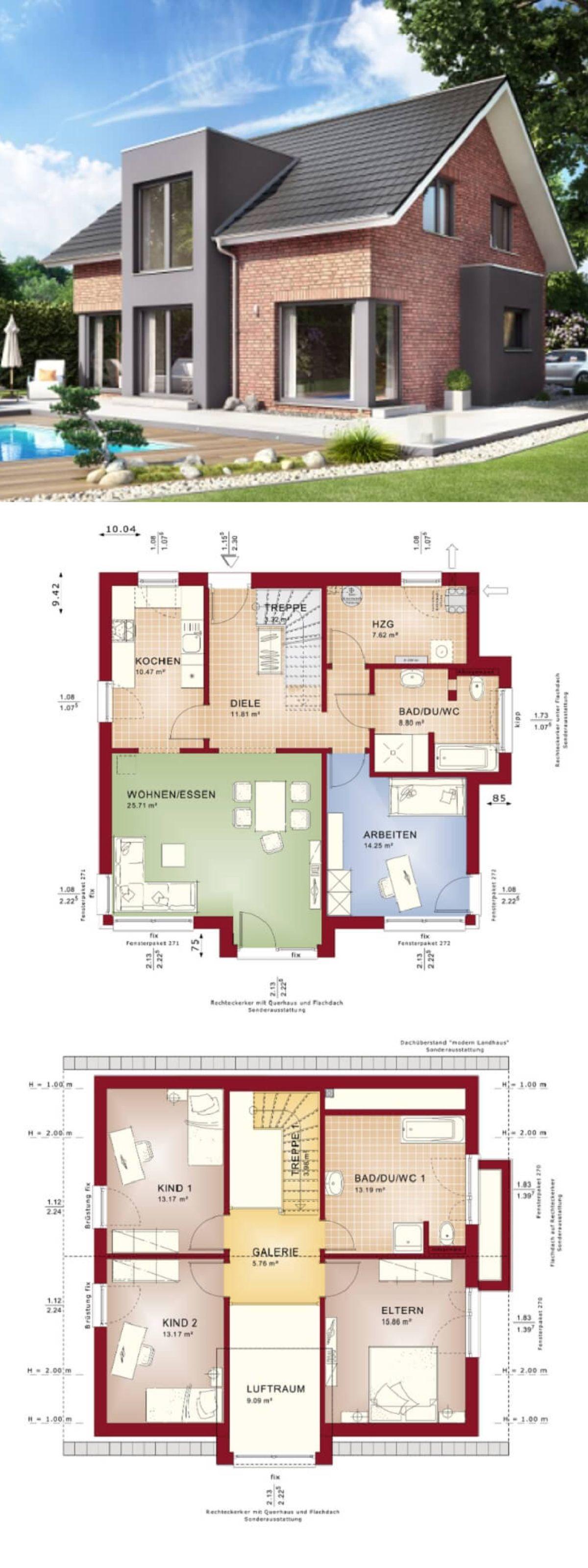 Modernes Haus Mit Galerie Klinker Fassade Und Satteldach