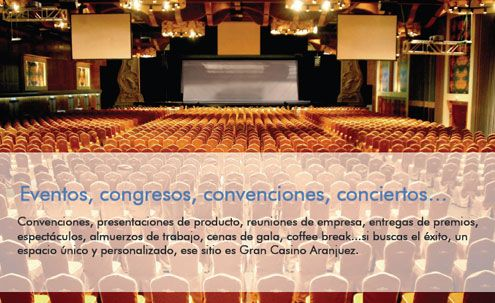 Teatro para 2000 personas en el Gran casino de Aranjuez