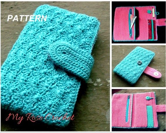 CROCHET Bi-fold Ladies cell phone/money Purse Pattern-Girls wallet pattern-Digital/ PDF pattern #crochetformoney