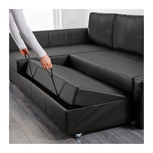 FRIHETEN Corner sofa bed Bomstad black Bomstad black