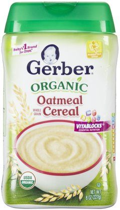 Gerber Infant Organic Oatmeal 8 Oz Best Price Baby Cereal Art