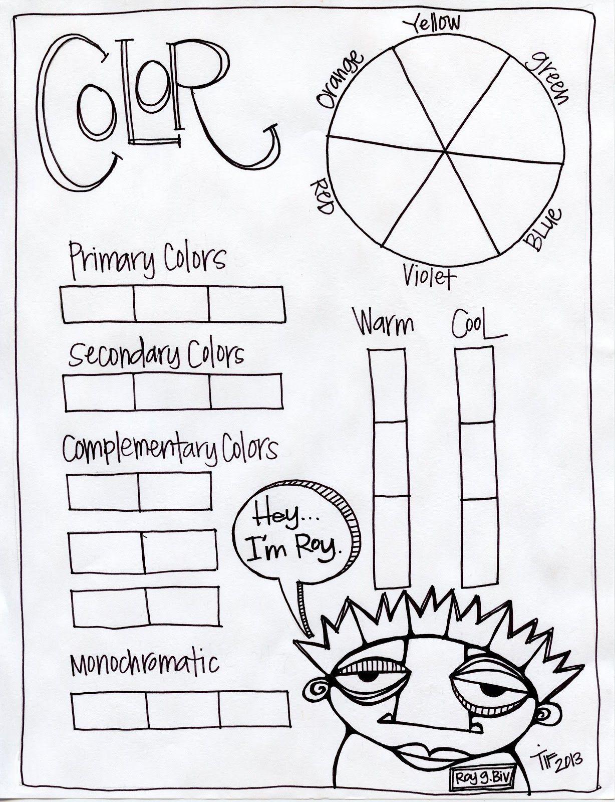 Worksheets Color Theory Worksheet Cheatslist Free