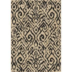 Orian Rugs Glamour Beige Rectangular Indoor Machine Made Area Rug Common 5 X 7 Actual 5 Ft W X 7 Ft L 385991 Beige Area Rugs Rugs Area Rugs