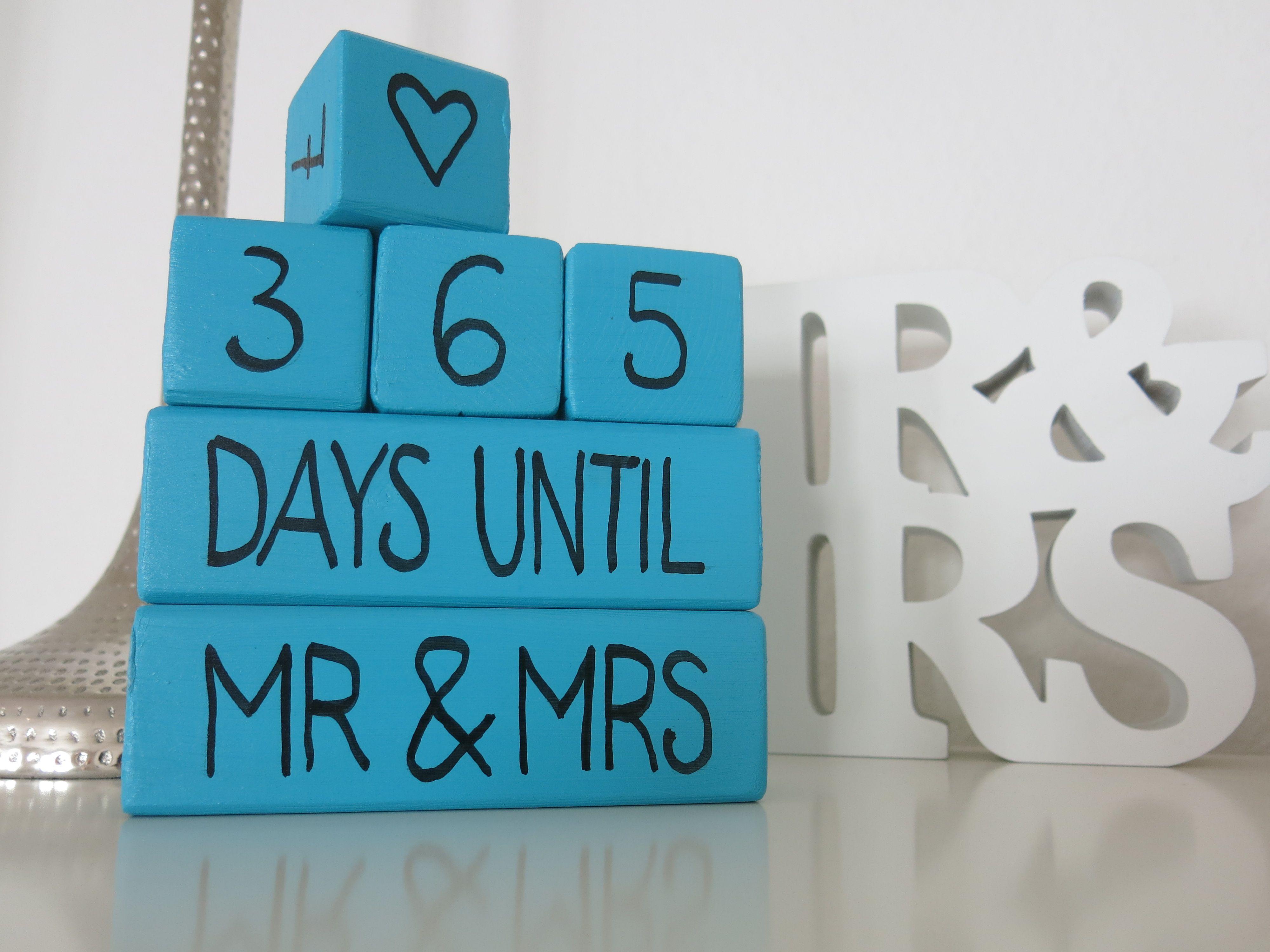 Verlobungsgeschenk Selbst Machen Hochzeitscountdown Wurfel Rund
