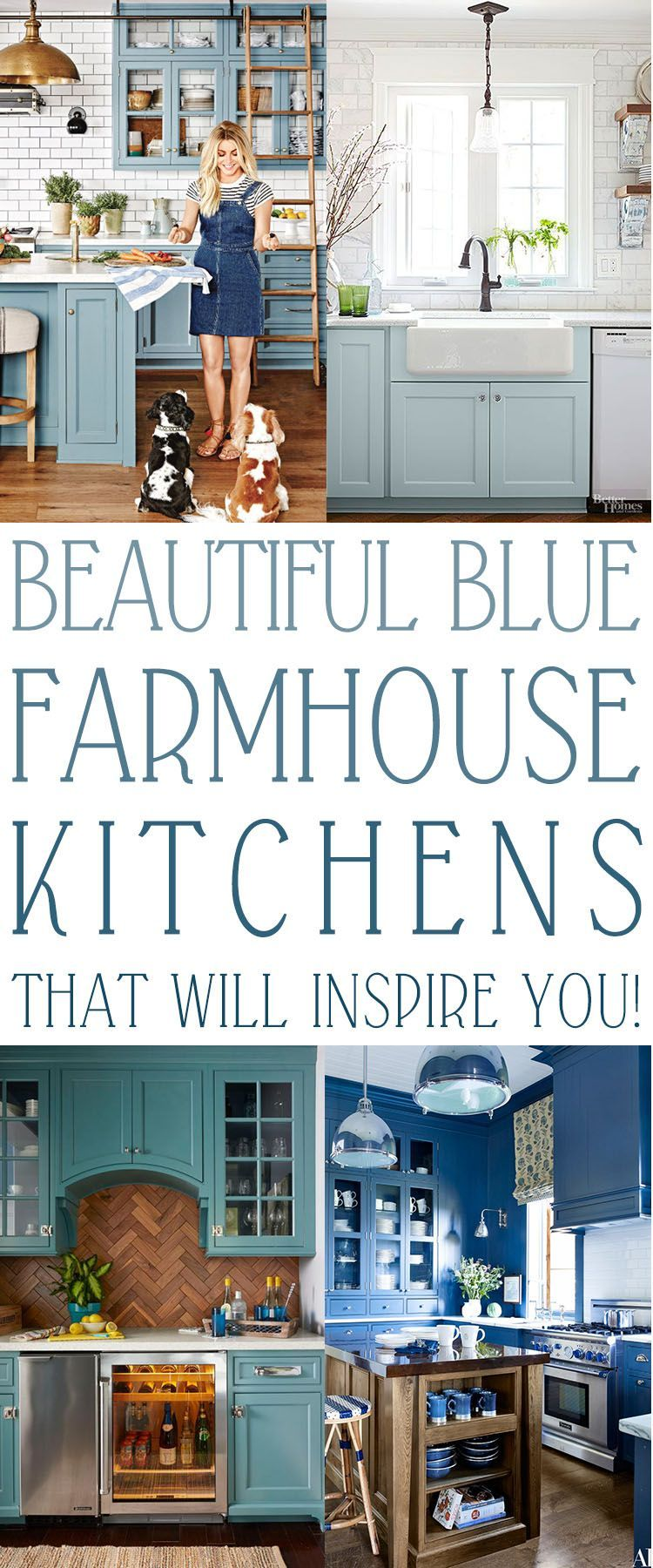 The Ultimate Blue Farmhouse Kitchen Collection #kitchencollection The Ultimate Blue Farmhouse Kitchen Collection - The Cottage Market #kitchencollection
