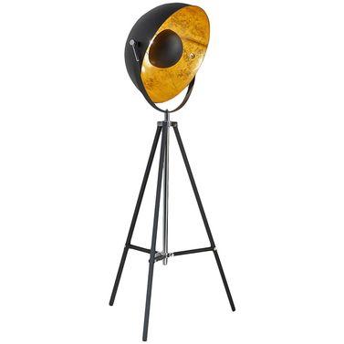 De eyecatching Eclips vloerlamp geeft elk interieur een bold, industrial touch. Naast z'n fraaie vormgeving zorgt deze lamp ook voor een mooi indirecte verlichting in uw kamer. De lamp is voorzien van een voetschakelaar zodat u de lamp gemakkelijk aan en uit kunt zetten. // Haco @ Feelings Wonen