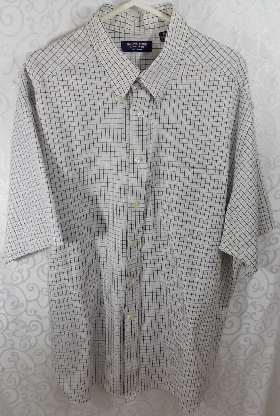 12d18970b Roundtree Yorke Mens Short Sleeve Shirt, 2X Easy Care, Button Front ...