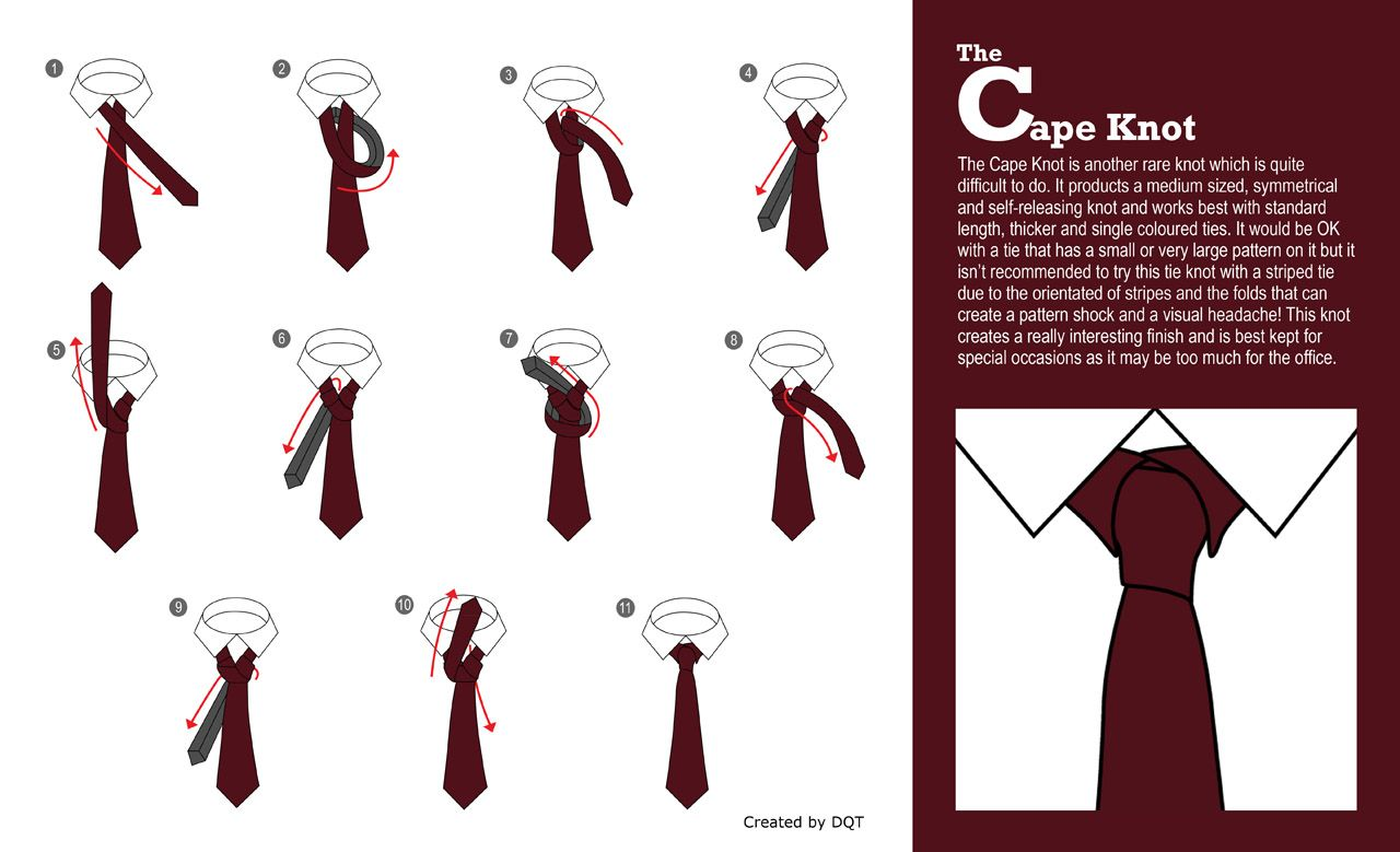 how to tie a cape knot 12 of 21 by dqt. Black Bedroom Furniture Sets. Home Design Ideas