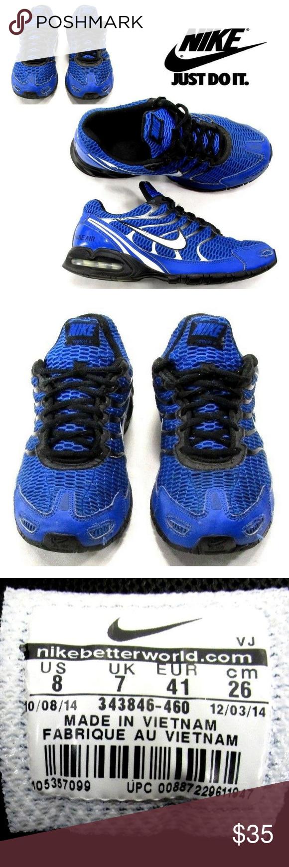 NIKE AIR MAX Torch 4 IV Men's 8 Running Shoes S3 NIKE AIR