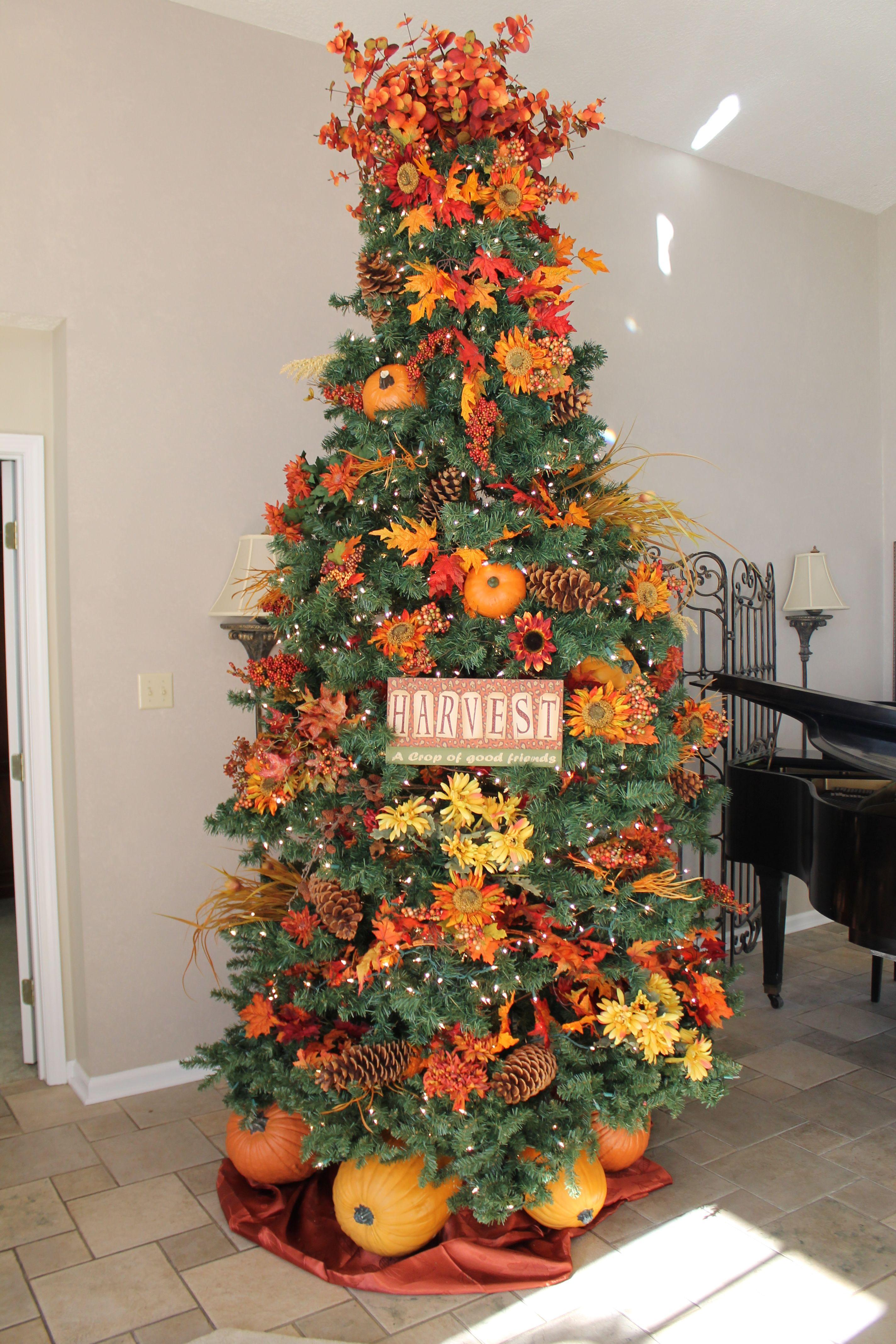 Fall Tree Fall tree decorations, Fall christmas tree