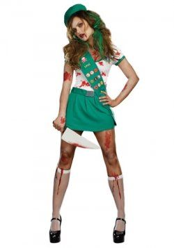 Hahaha, Sexy Zombie Ghoul Scout Costume